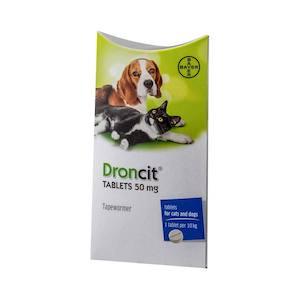 Droncit Dog Tapeworm Tablets
