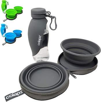 Colapz Dog Bowl & Portable Bottle Travel Set