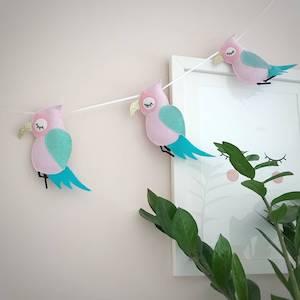 Felt And Glitter Parrot Garland