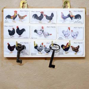 Four Hook Chicken Key Rack