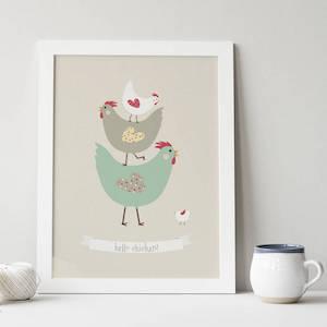 Hello Chicken! Chicken Gift Print