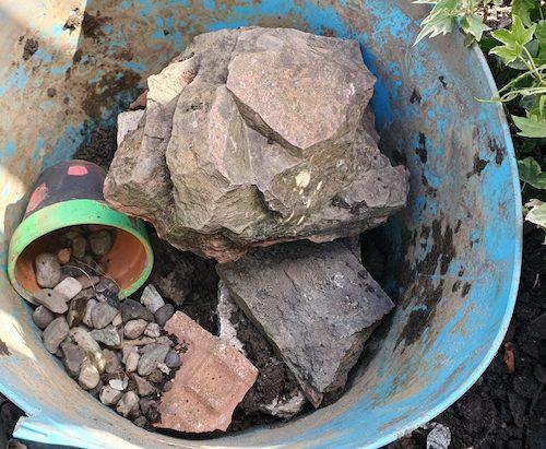 Homemade Pond Using Trug Bucket