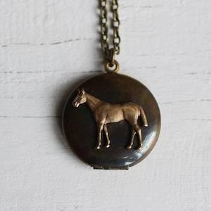 Vintage Horse Locket