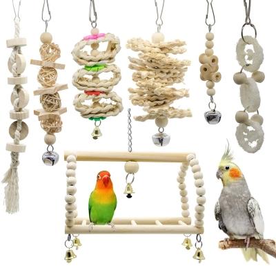 LANSONTECH Bird Swing & Toys set