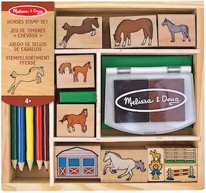 Melissa Doug Wooden Stamp Activity Set