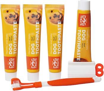 Natural Dog Treats Toothbrush Kit