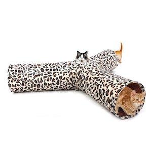 PAWZ Road Leopard Print 3 Way Cat Tunnel