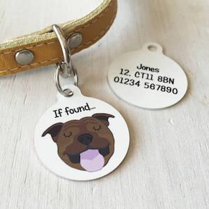 Hoobynoo Personalised Dog Breed ID Tag