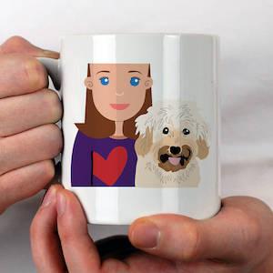 Personalised Dog Mum Gift Mug