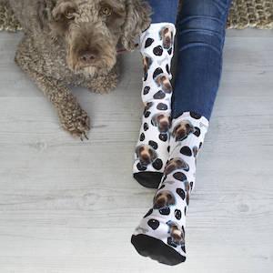 Personalised Dog Pet Photo Socks