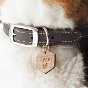 Clouds and Currents Personalised Heart Pet Tag