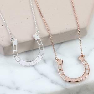 Personalised Lucky Horseshoe Necklace