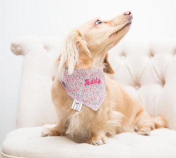 TEDDY MAXIMUS Personalised Pink Liberty Print Neckerchief
