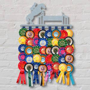 Personalised Showjumping Rosette Hanger