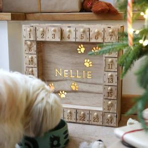 Personalised Wooden Pet Advent Calendar