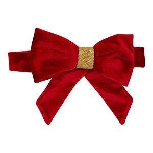 Christmas Luxe Velvet Dog Bow Tie