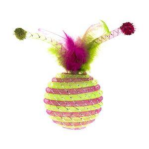 Rufus & Rosie Green & Purple Tube Ball Cat Toy