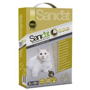 Sanicat Gold Talcum Powder Scent Clay Fine Granule Ultra Clumping Cat Litter