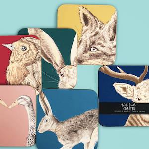 Set Of Six Wildlife Coasters