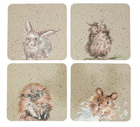 Set Of Four Wildlife Coasters