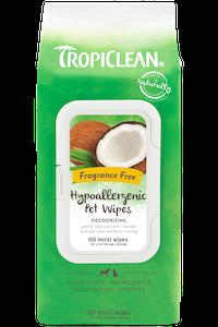 Tropiclean Hypoallergenic Deodorising Pet Wipes