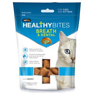VetIQ Healthy Bites Breath and Dental Cat and Kitten Treats