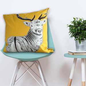 Wildlife Cushion 'The Stag Watcher'