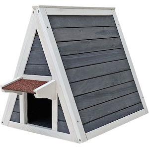 Petsfit Wooden Weatherproof Cat House