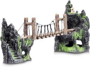 Aquatic Planet Rope Bridge & Mountains Ornament