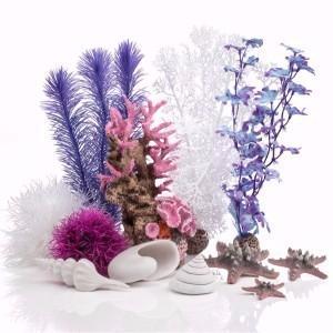 BiOrb Pink Aquarium Ornament Decor Set 30L