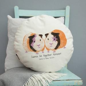 Personalised Guinea Pig Couple Cushion