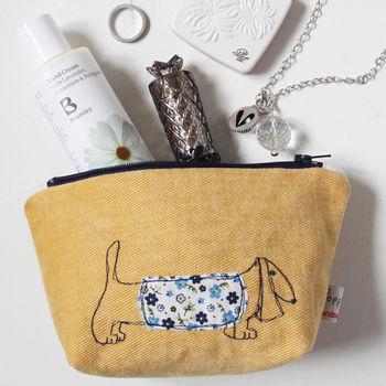 Sausage Dog Toiletry and Make-up Bag