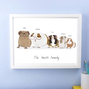 Personalised Family Guinea Pig Print
