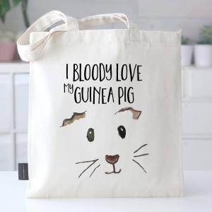 I Bloody Love My Guinea Pig Bag