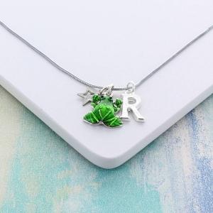 Enamel Frog Personalised Charm Necklace