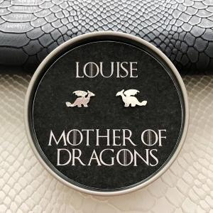 Mother Of Dragons Personalised Stud Earrings