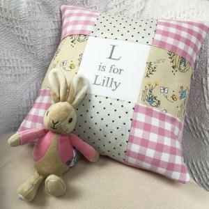 Peter Rabbit Alphabet Cushion