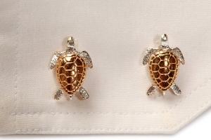 Simon Kemp Turtle Cufflinks