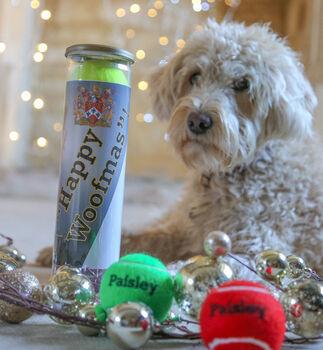 Personalised Dog Tennis Balls