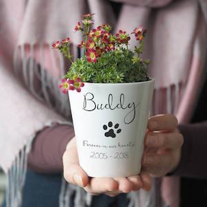 So Close Pet Memorial Plant Pot