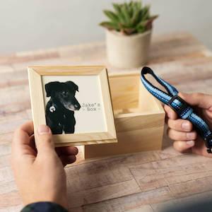 Hoobynoo Pet Memorial Wooden Keepsake Box