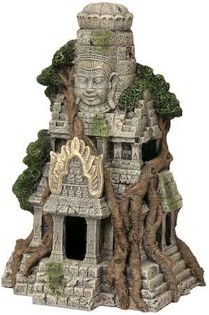 Rosewood Cambodian Temple Ruins Aquarium Decor