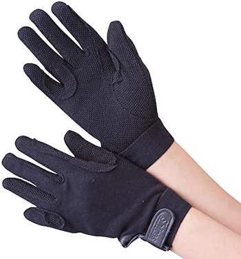 Shires Cotton Pimple Gloves Adults
