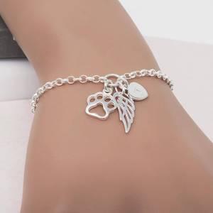 Silver Pet Loss Bracelet
