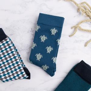 Turtle Print Socks For Men