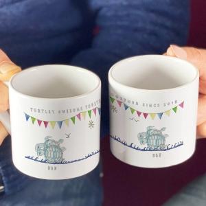 Personalised Turtle Couples Mugs
