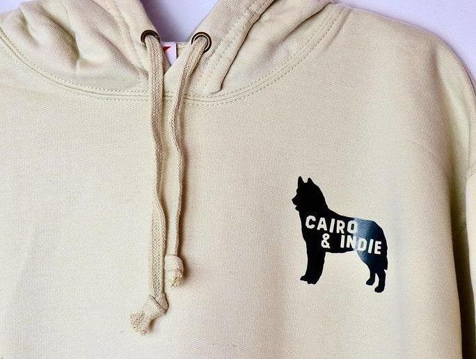 wet nosed pup personalised hoodie