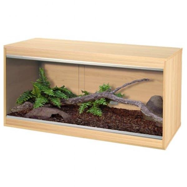 a wooden reptile vivarium